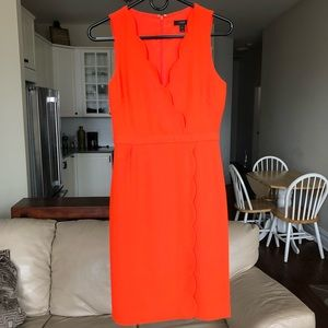 NWOT J.Crew Scalloped Suiting Dress